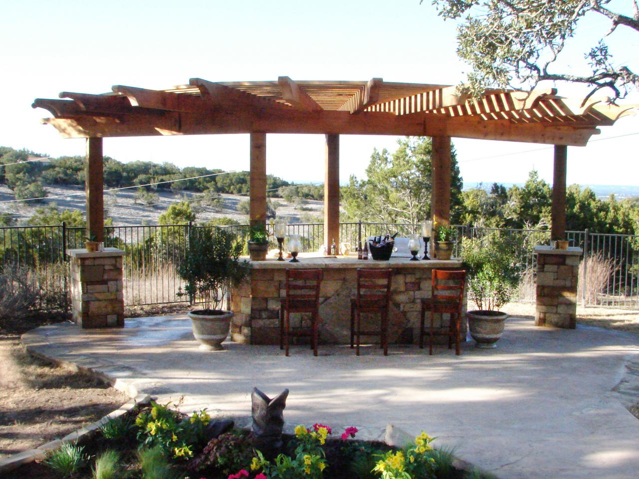 Outdoor Kitchen Structures : Outdoor entertaining diy spaces backyards