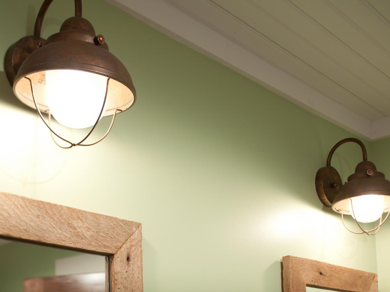 Copper bath fixtures photos diy for Copper bathroom light fixtures