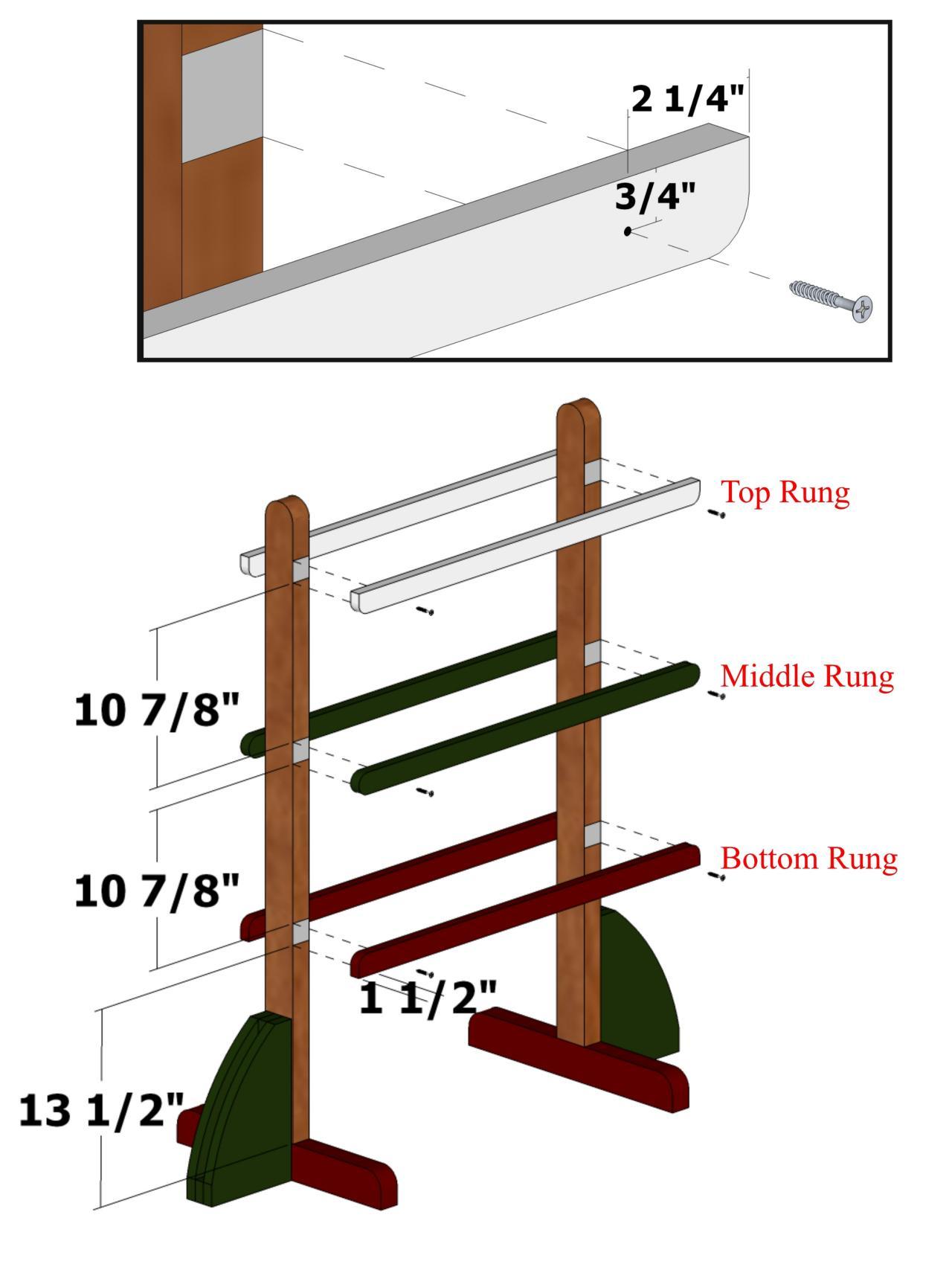 Ladder golf rungs layout photos diy for Chair network golf