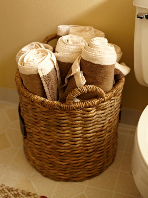 house counselor bathroom towel storage hgtv
