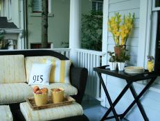 Cheerful Porch With Yellow Accents