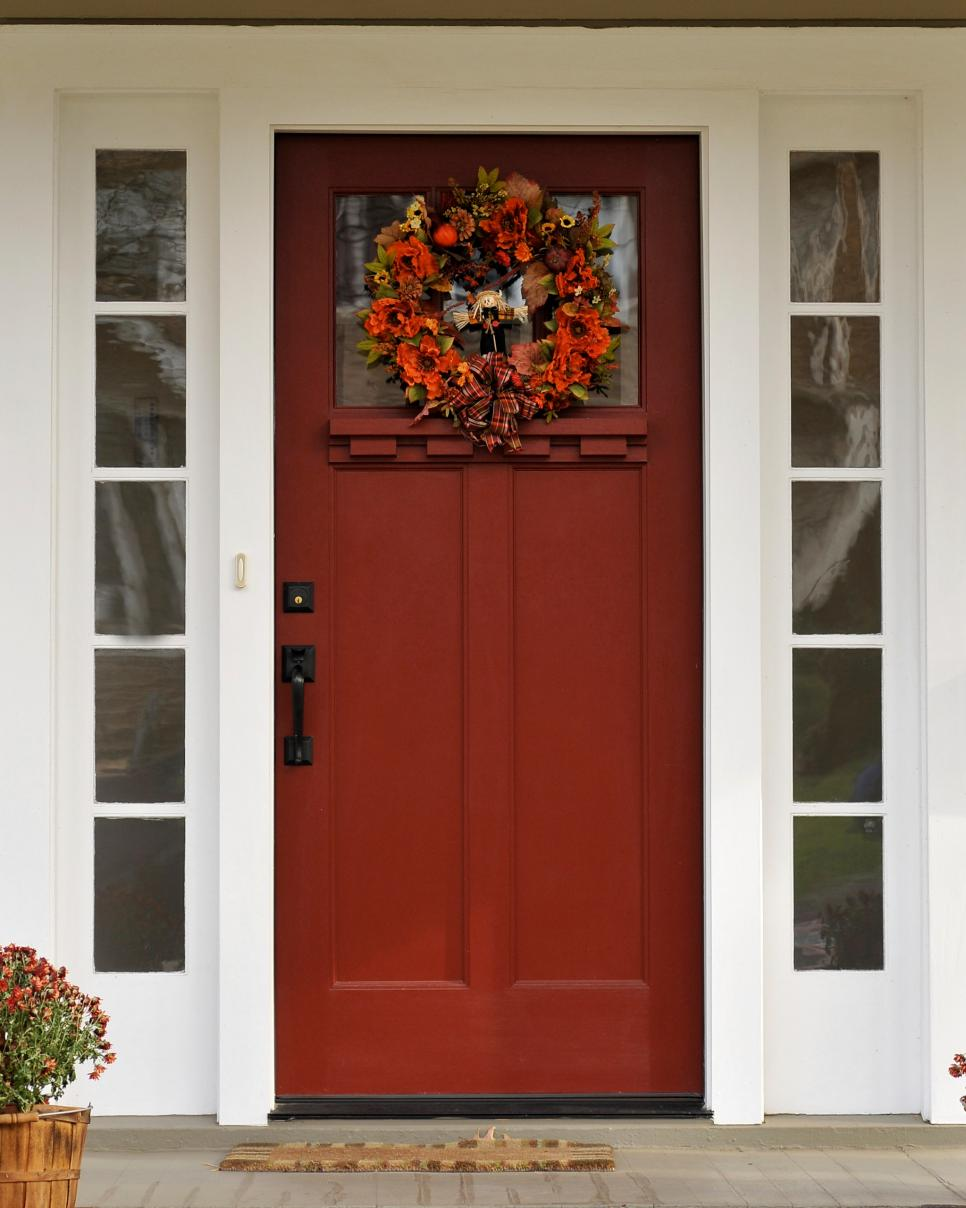 7 curb appeal tips for fall hgtv Curb appeal doors