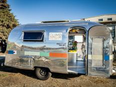 Exterior: Climb Real Estate Group's Airstream Office in San Francisco