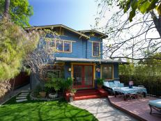 Maria Bello's Colorful Craftsman Exterior