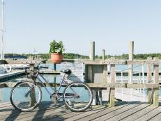 Bike on Boardwalk in Beaufort, N.C.