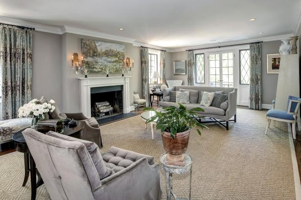 Living Room: Historic Home on Belmont Rd in Washington DC