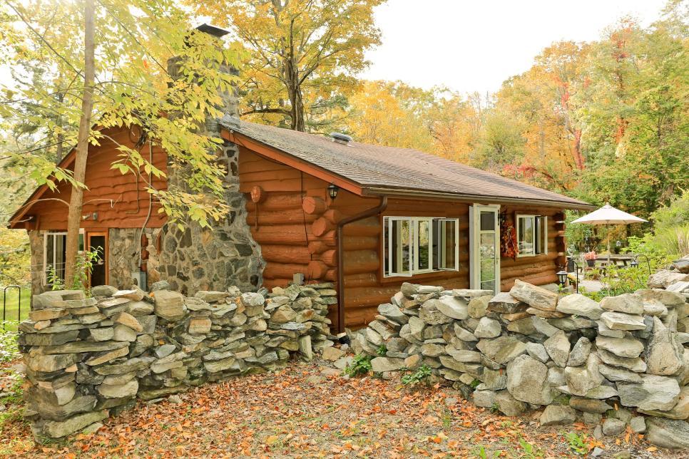 Tiny Home Tour Stone and Log Cabin In Carmel NY HGTV