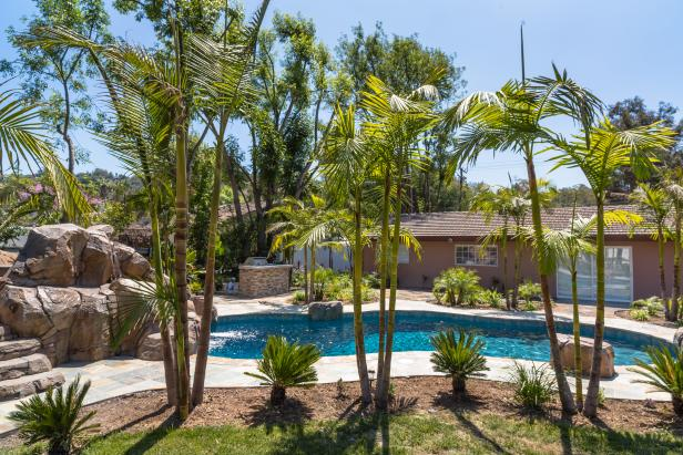 Backyard: Larry Hernandez's California Home
