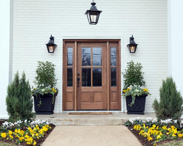 Inviting Exterior Wood Door