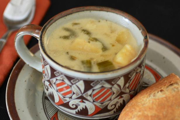 A savory, stick-to-your-bones winter treat: potato soup.