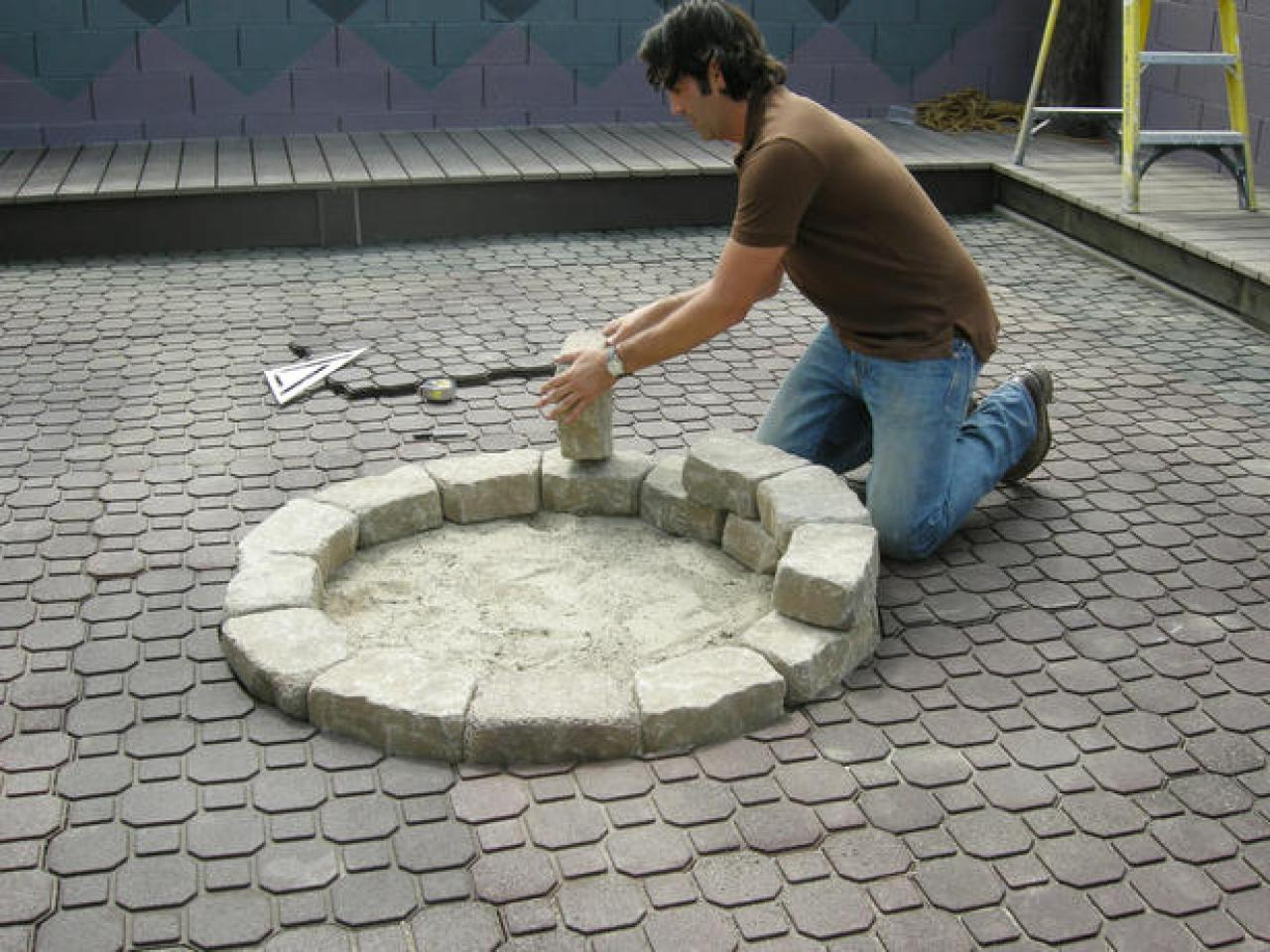 how to build a fire pit hgtv