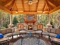 DIY Outdoor Fireplace Ideas   HGTV