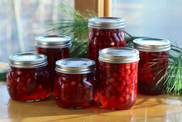 Cranberries canned for long-term storage can also  be used to decorate for the holidays.