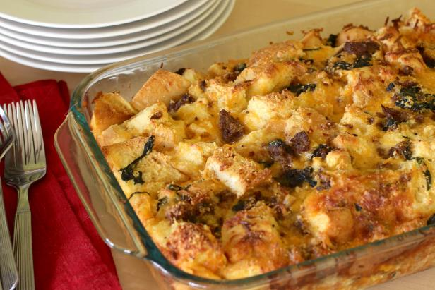 Spinach and Sausage Strata