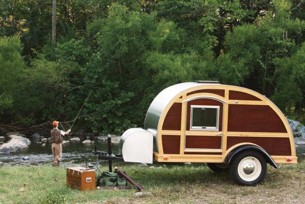 The Silver Tear Woodie Camper.