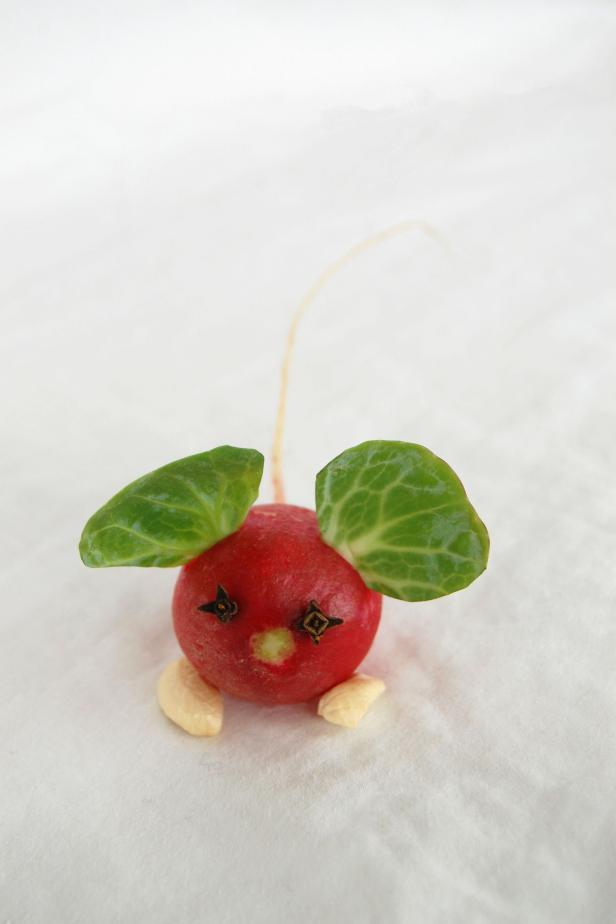 This radish mouse is so simple and adorable, you might have to make more than one!