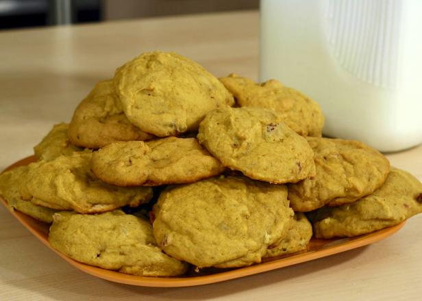 Pumpkin cookies are soft, cakey and spiced for the season.