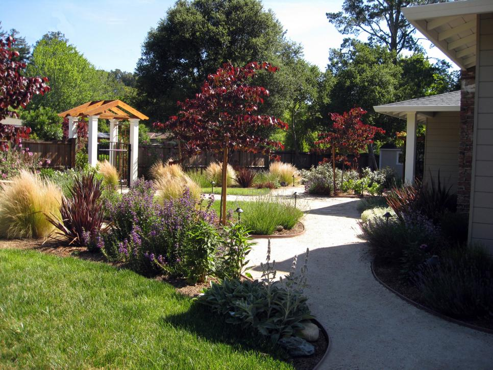 Front yard landscaping ideas hgtv for Front lawn plant ideas