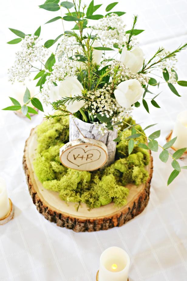 Make a rustic wedding centerpiece hgtv