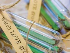 Seed starter wedding favor