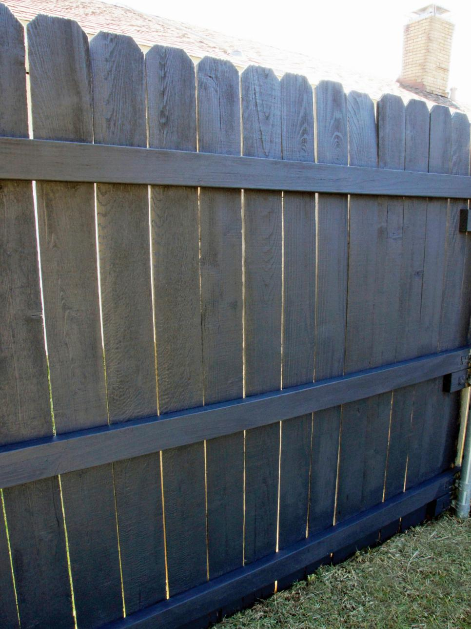 How to paint a fence hgtv Fence paint colors ideas