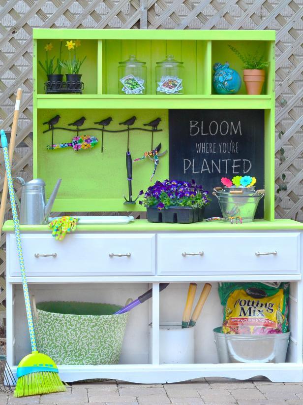 Turn A Thrift Store Dresser Into A Potting Bench Hgtv