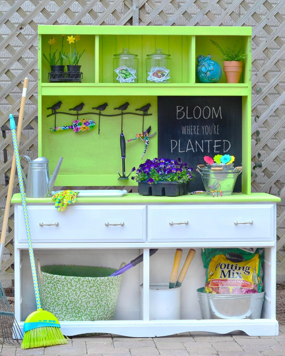 use your potting bench for