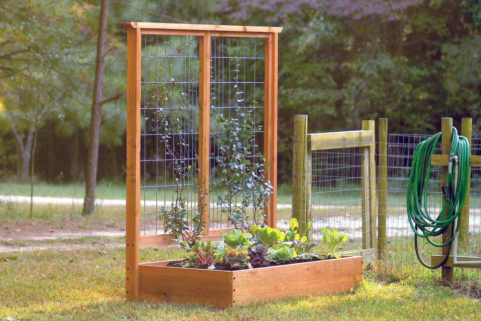how to build a raised bed and trellis hgtv