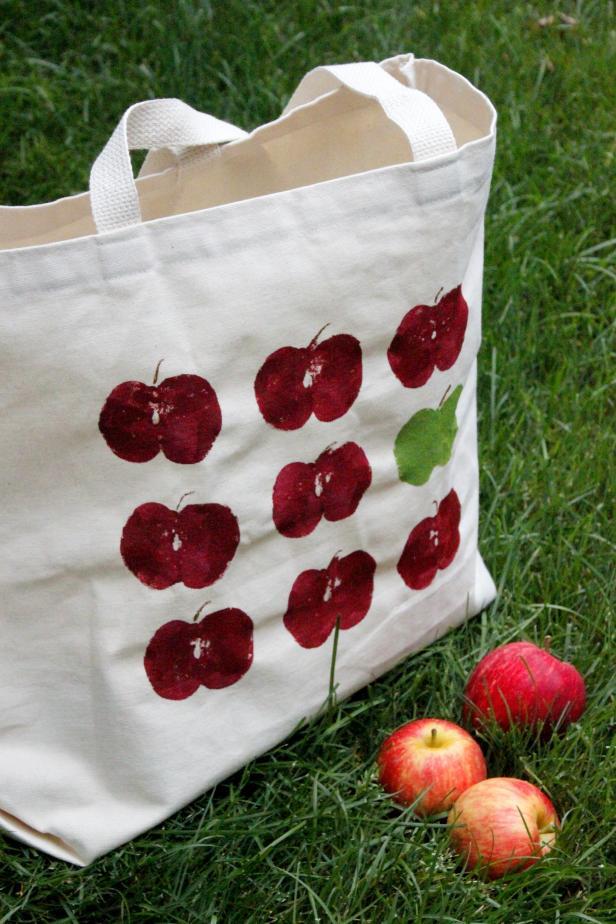 DIY Apple Picking Totebag
