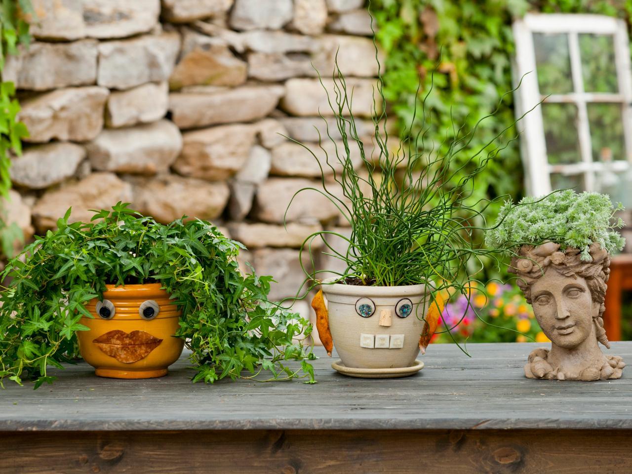 Decorative Planters Put A Face On Your Garden Pots How