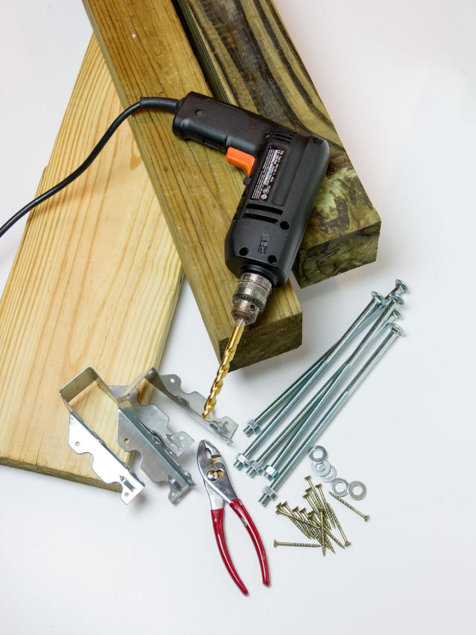 How to build an indoor tree house play loft and drill into the studs - Accessorize