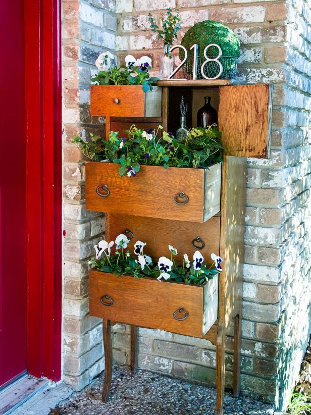 Dresser Drawer Porch Decor