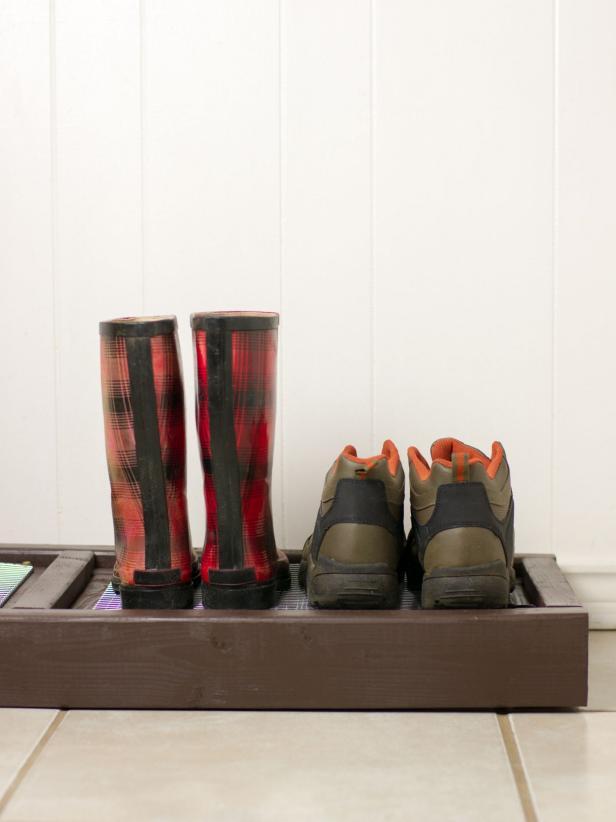 Make A Diy Boot Rack Hgtv