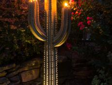 Saguaro Cactus Outdoor Torch