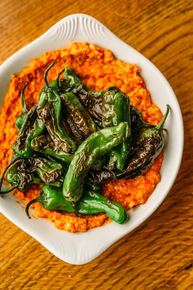 Fried Shishito Peppers With Romesco Recipe
