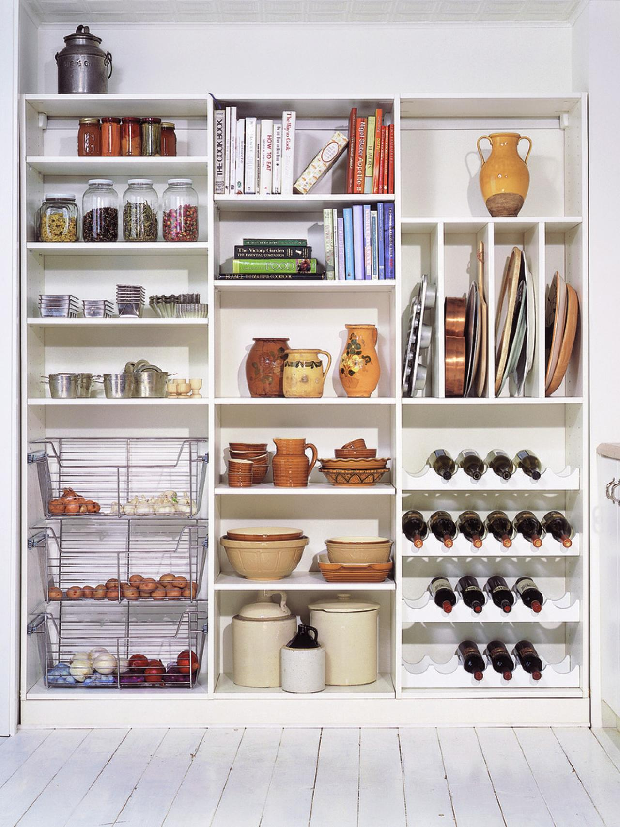 Organize your kitchen pantry hgtv for Kitchen closet ideas