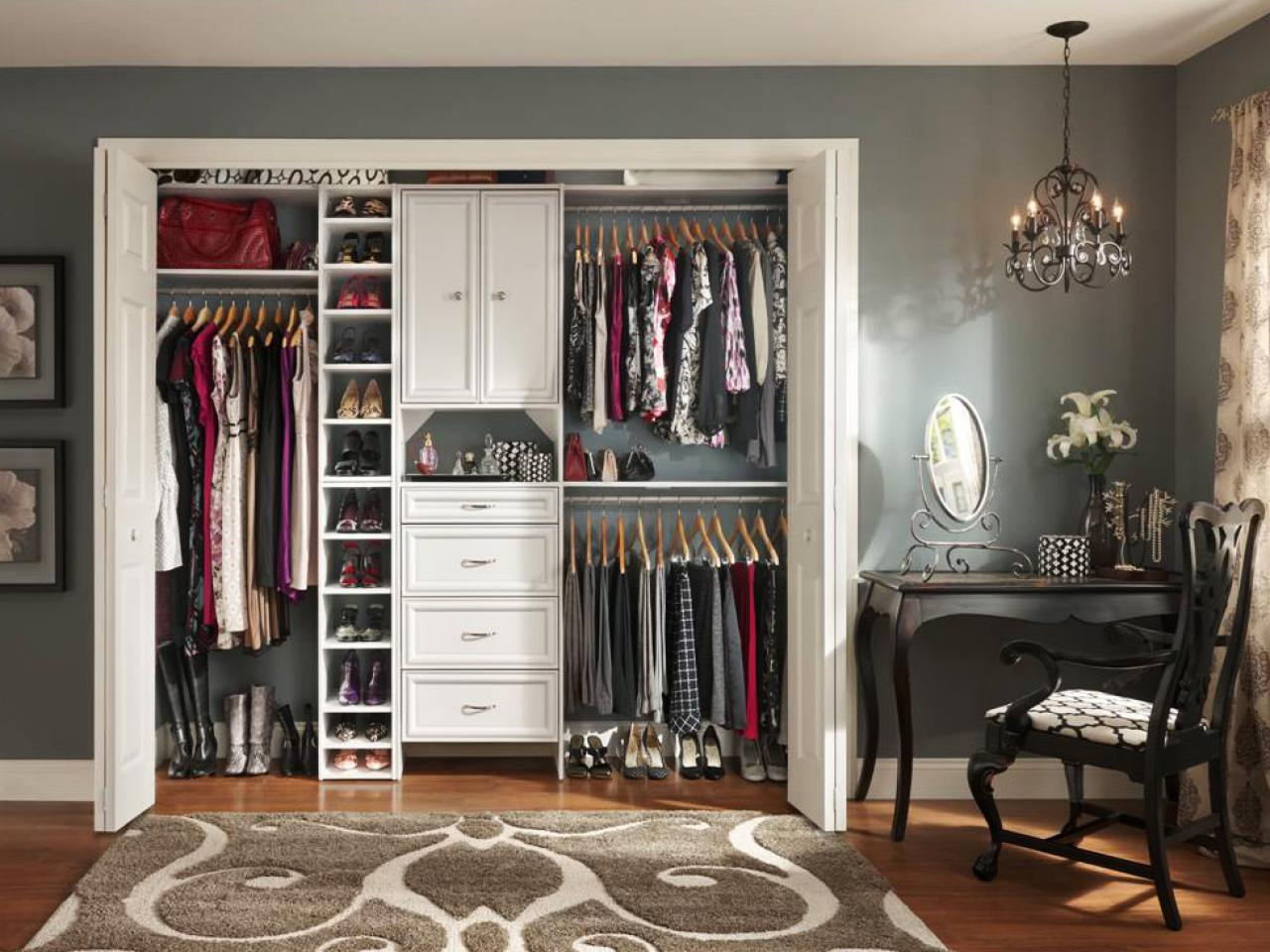 Closet Organizing Ideas Stunning Small Closet Organization Ideas Pictures Options & Tips  Hgtv Design Decoration