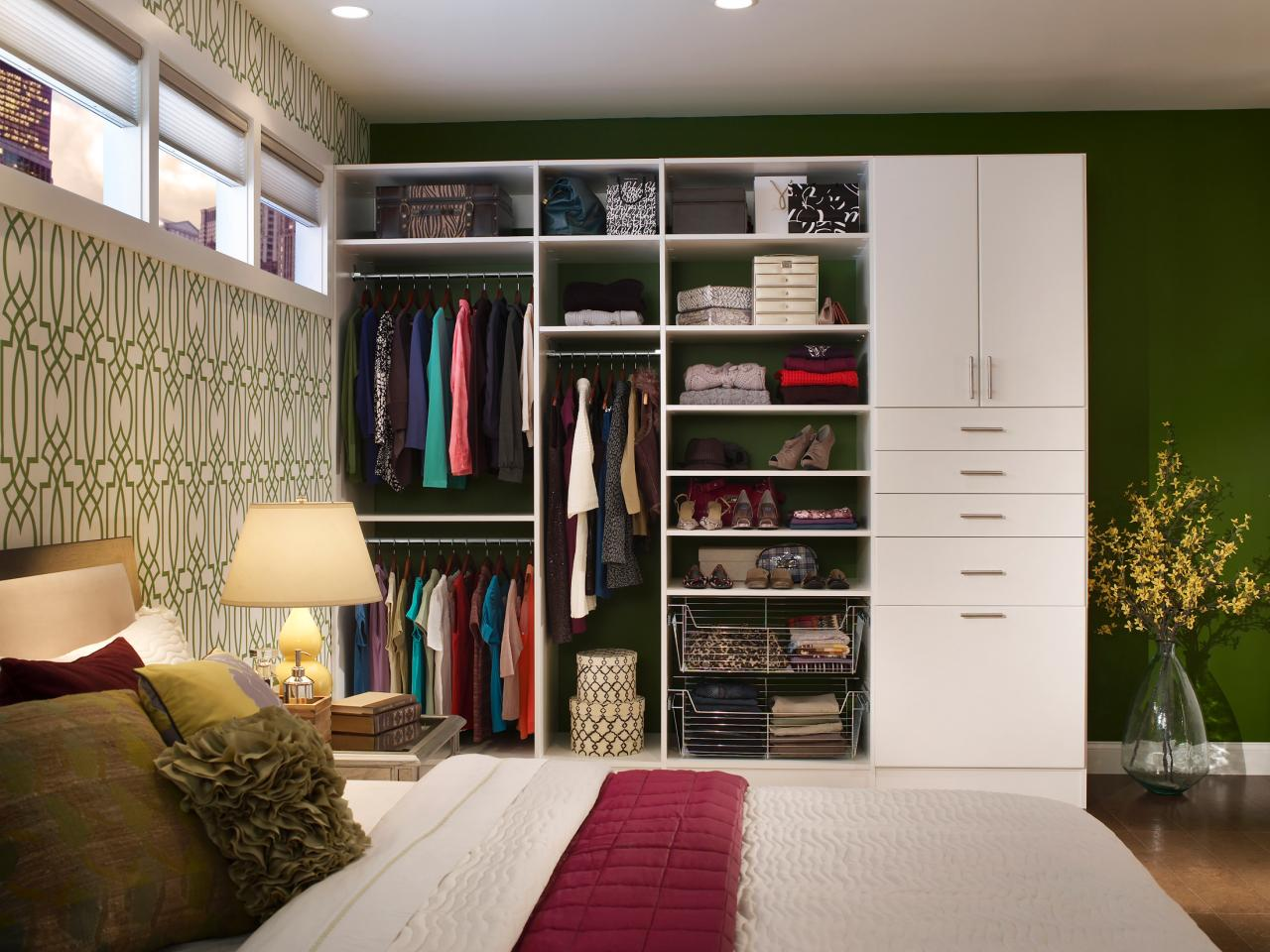 Small Bedroom Wardrobe Solutions 9 Nightstand Alternatives For Small Bedrooms Hgtvs Decorating