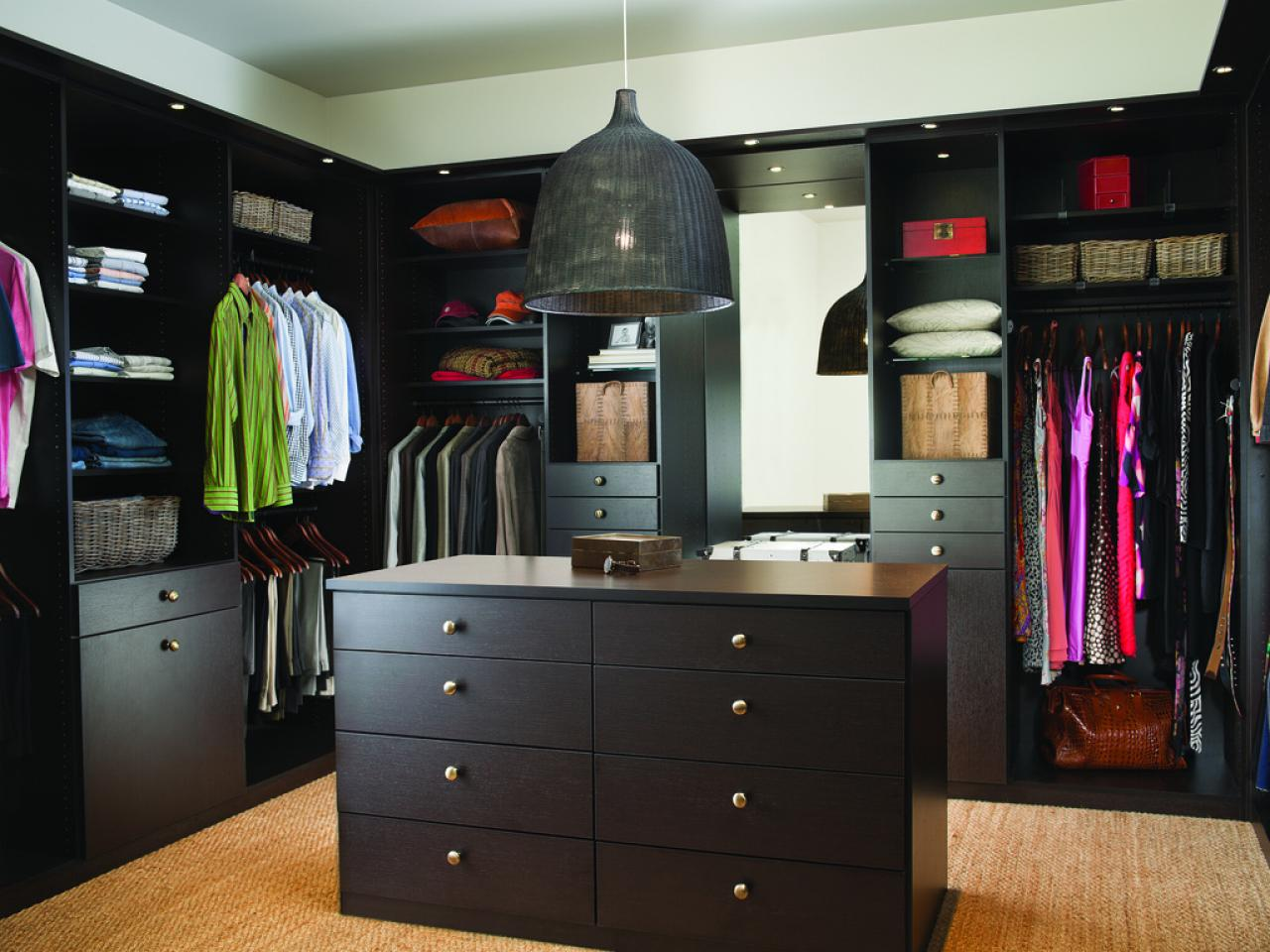 Master Closet Design Ideas space maximizing solution for small walk in master closet Walk In Closet Design Ideas Hgtv