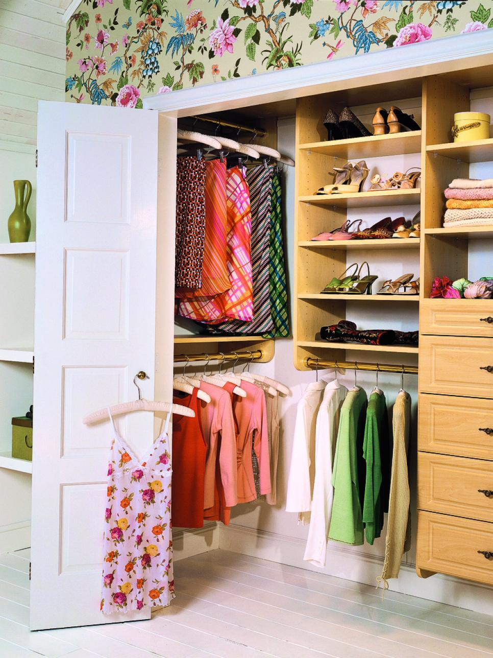 10 stylish reach in closets hgtv for Bathroom closet remodel