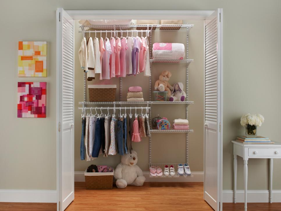 A closet that grows with your little girl hgtv for Wardrobe interior designs for girls