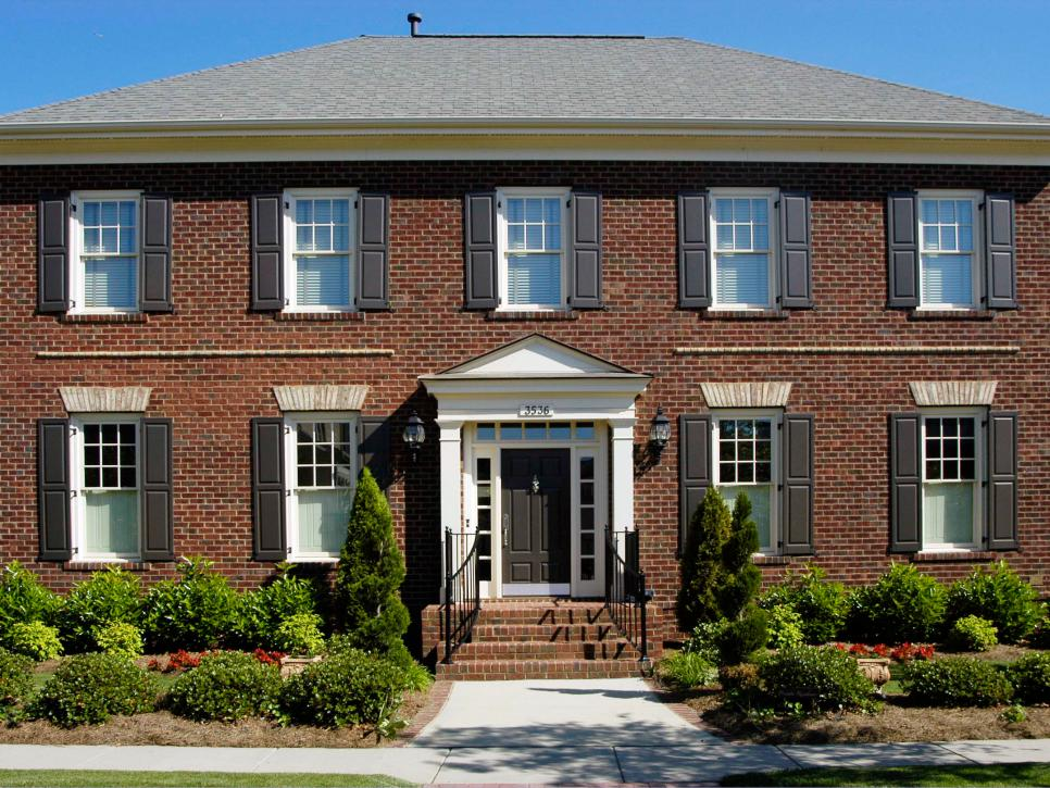 Beautiful brick homes hgtv Black brick homes