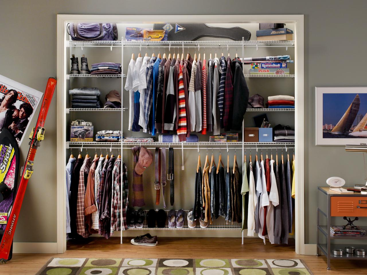 Closet Organizing Ideas Mesmerizing Small Closet Organization Ideas Pictures Options & Tips  Hgtv 2017