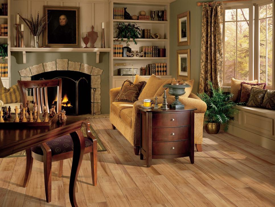 Laminate flooring options hgtv for Cheap flooring ideas for living room