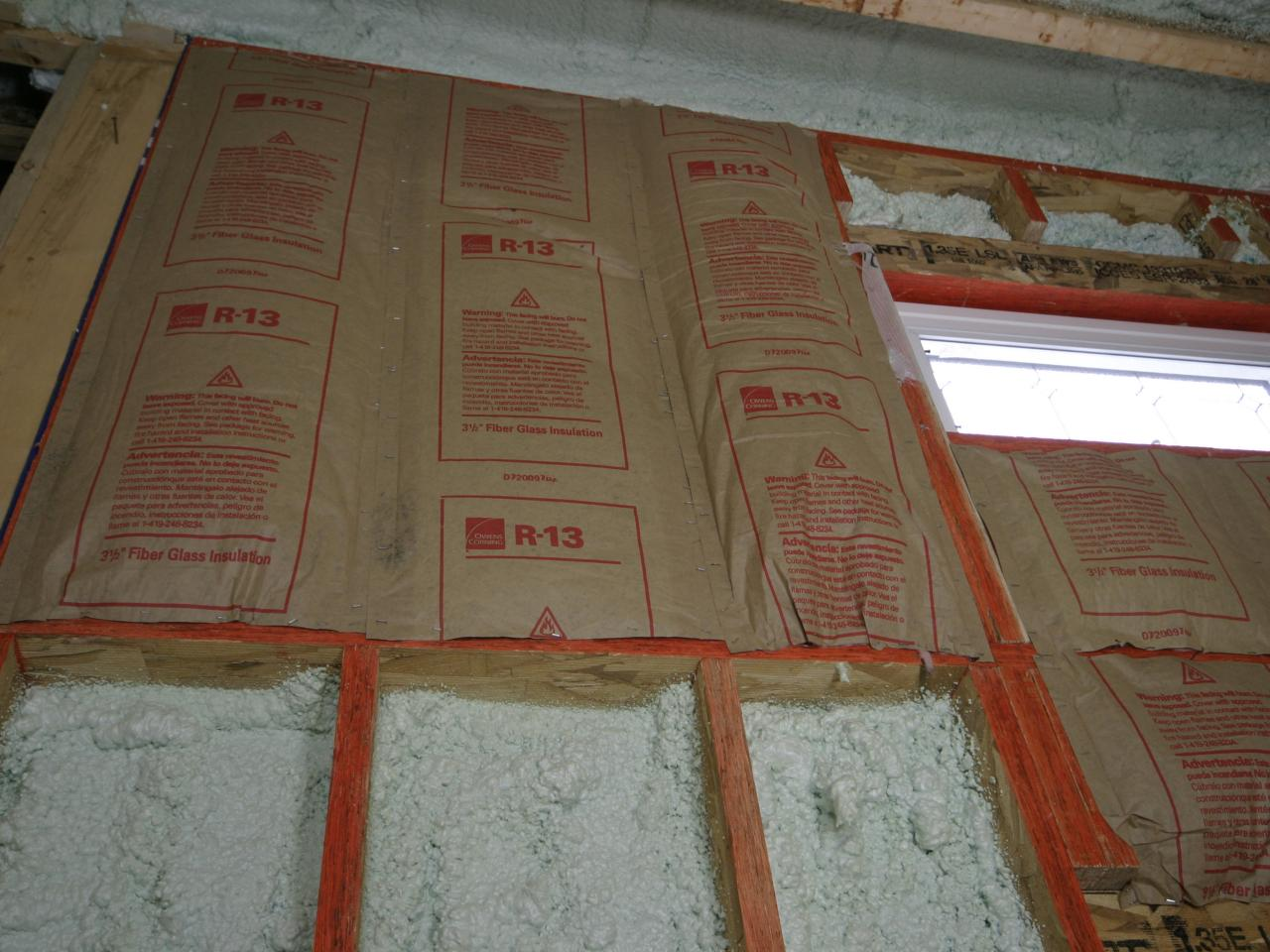 Air sealing a drafty house hgtv - Insulation r value for exterior walls ...