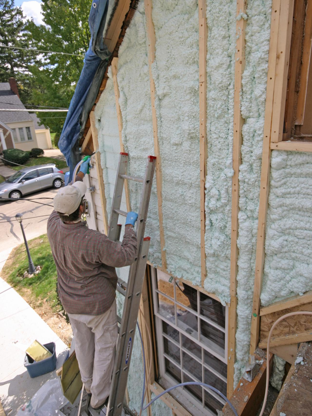exterior spray foam sealant. air sealing a drafty house exterior spray foam sealant .