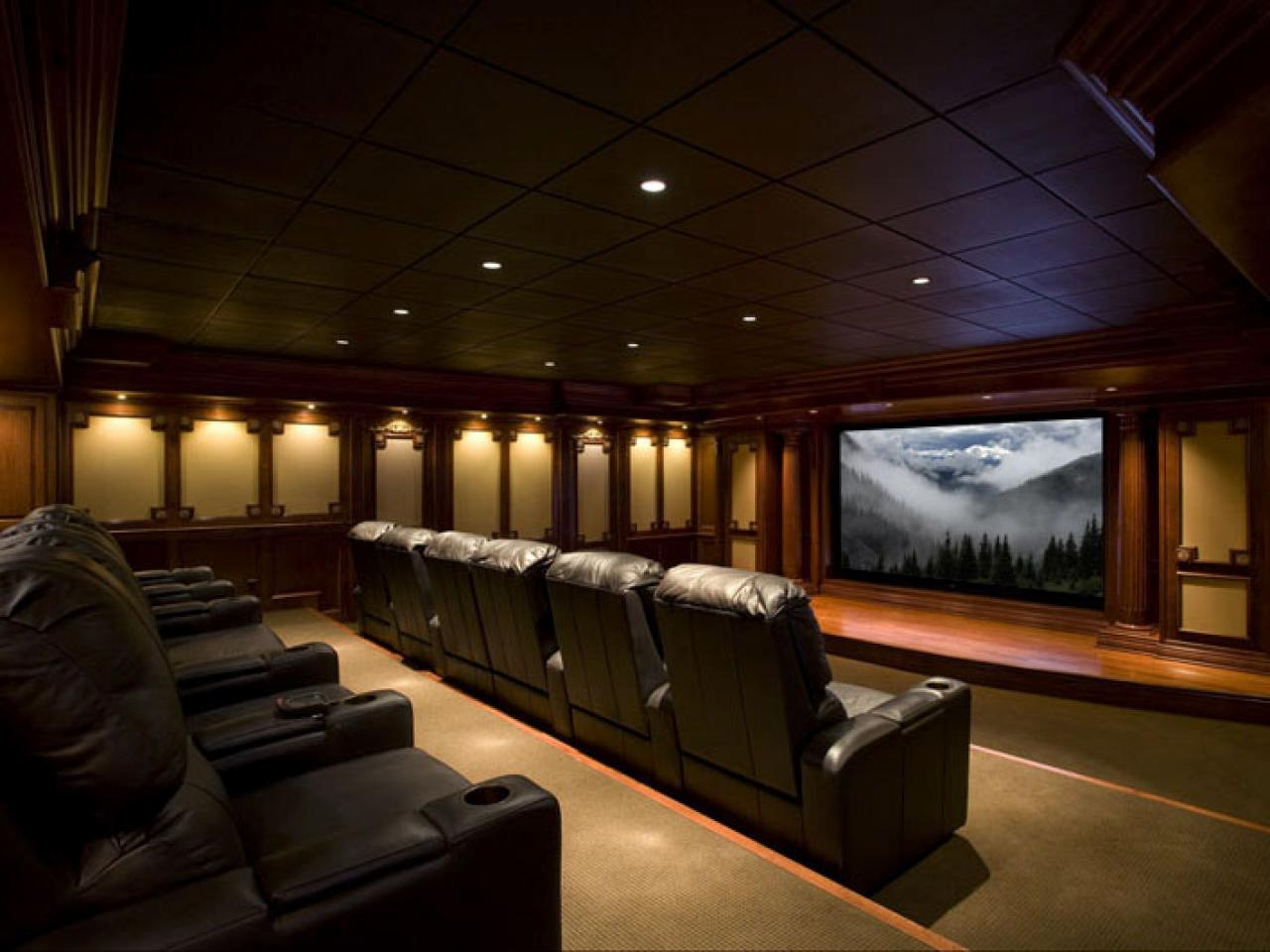 Media rooms and home theaters by budget home remodeling ideas for basements home theaters Home theater design ideas on a budget