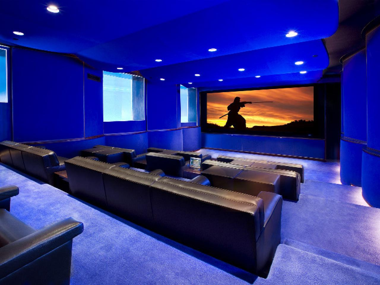 Home theater seating ideas pictures options tips ideas hgtv Home theater design ideas on a budget