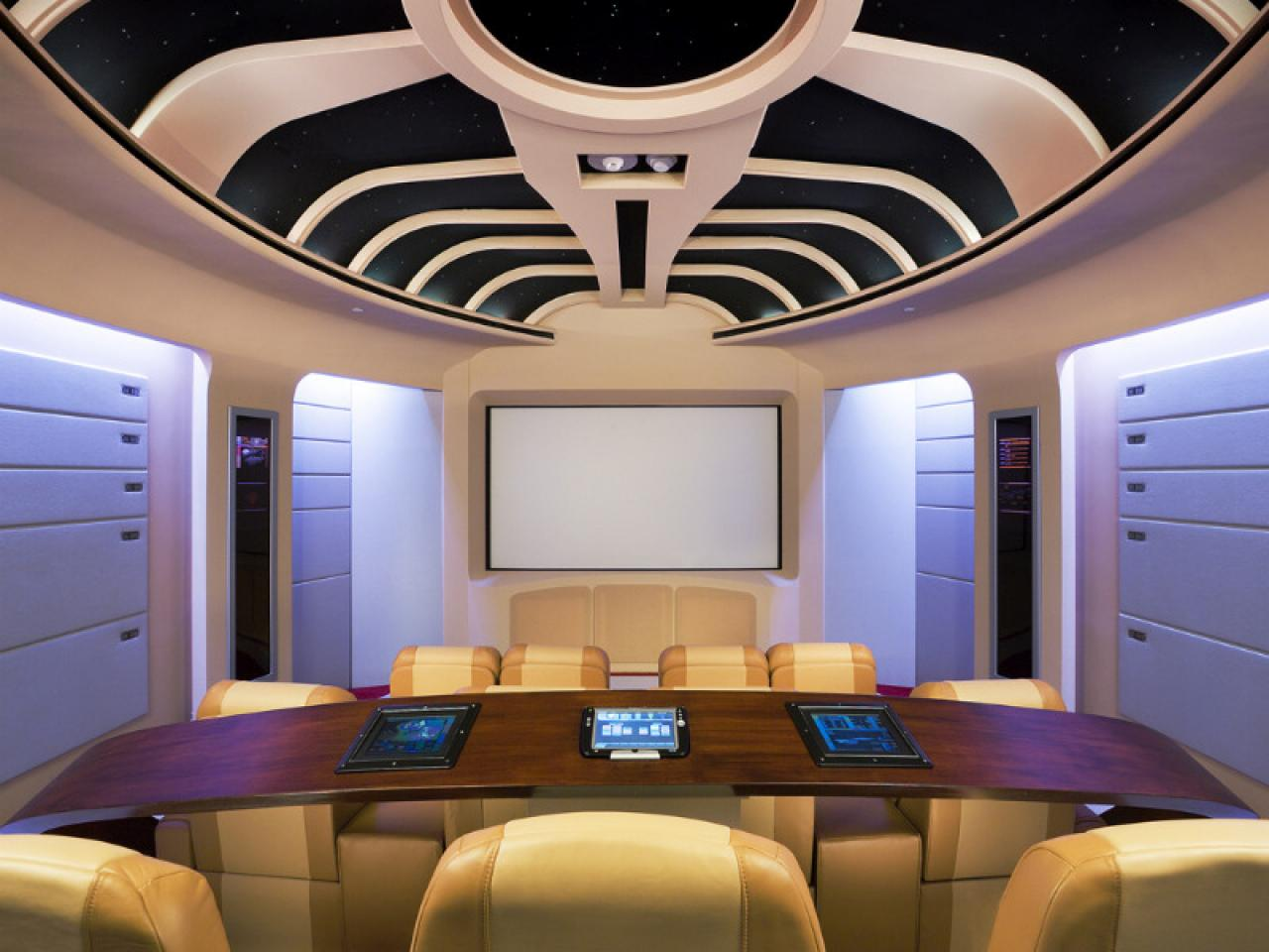 10 unique home theater themes home remodeling ideas for basements home theaters more hgtv - Home cinema design ideas ...
