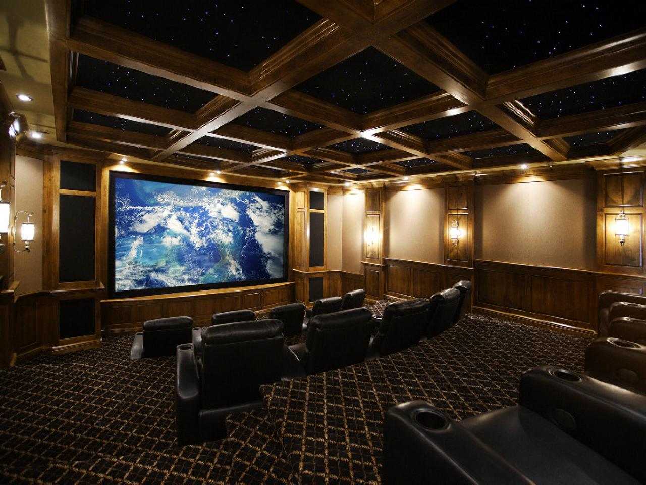Home Theater Design Ideas oversize furniture and art furnish a serene malibu california screening room designed by scott Decked Out Theater